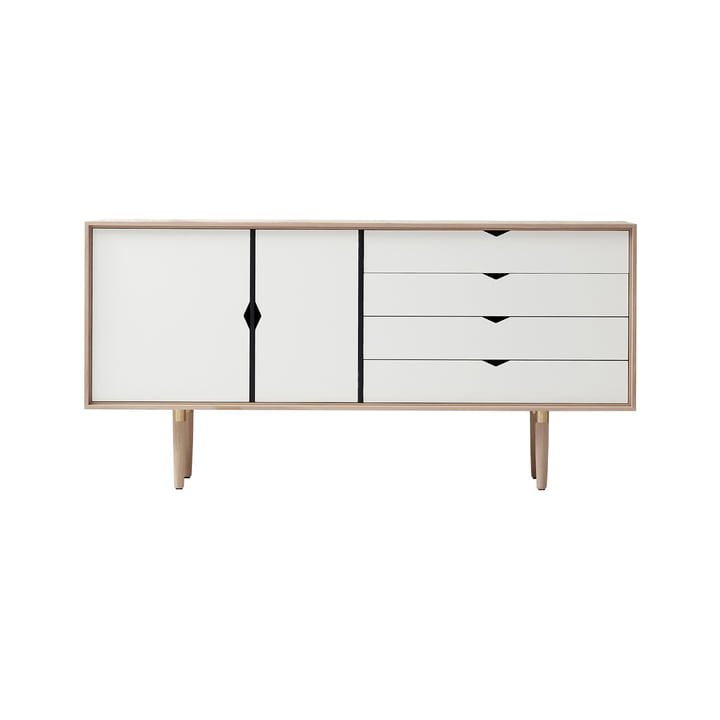 S6 Sideboard by Andersen Furniture in soaped oak / front white