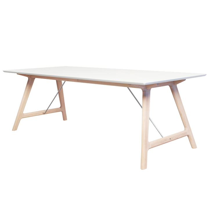 T7 Extending Table 220 cm by Andersen Furniture in soaped / white oak