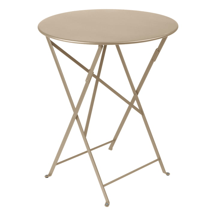 Bistro Folding table Ø 60 cm from Fermob in nutmeg