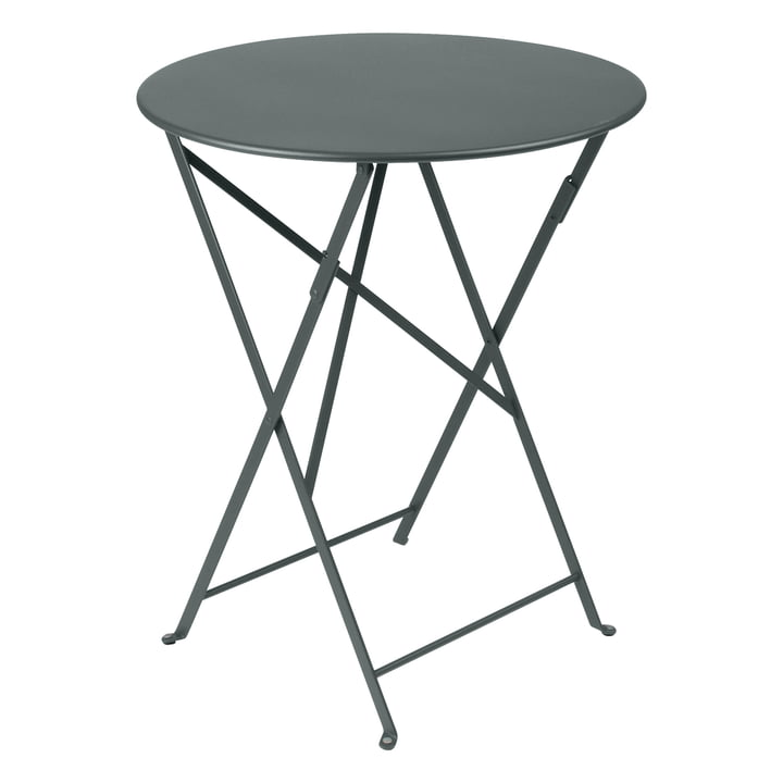Bistro Folding table Ø 60 cm by Fermob in thunder grey