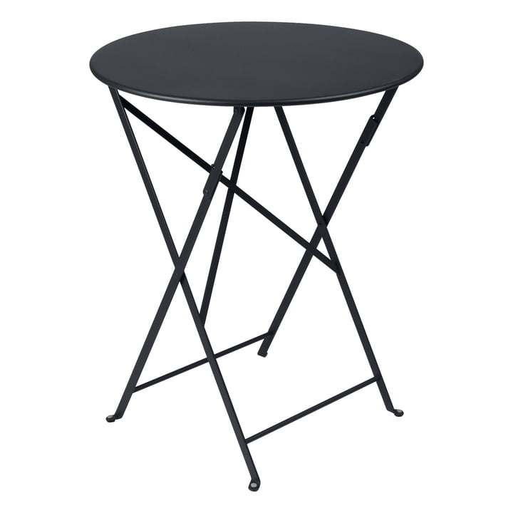 Bistro Folding table Ø 60 cm by Fermob in anthracite