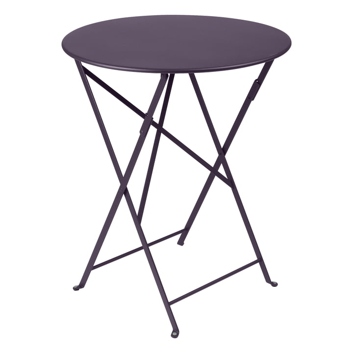 Bistro Folding table Ø 60 cm from Fermob in plum