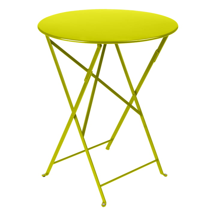 Bistro Folding table Ø 60 cm from Fermob in vervain
