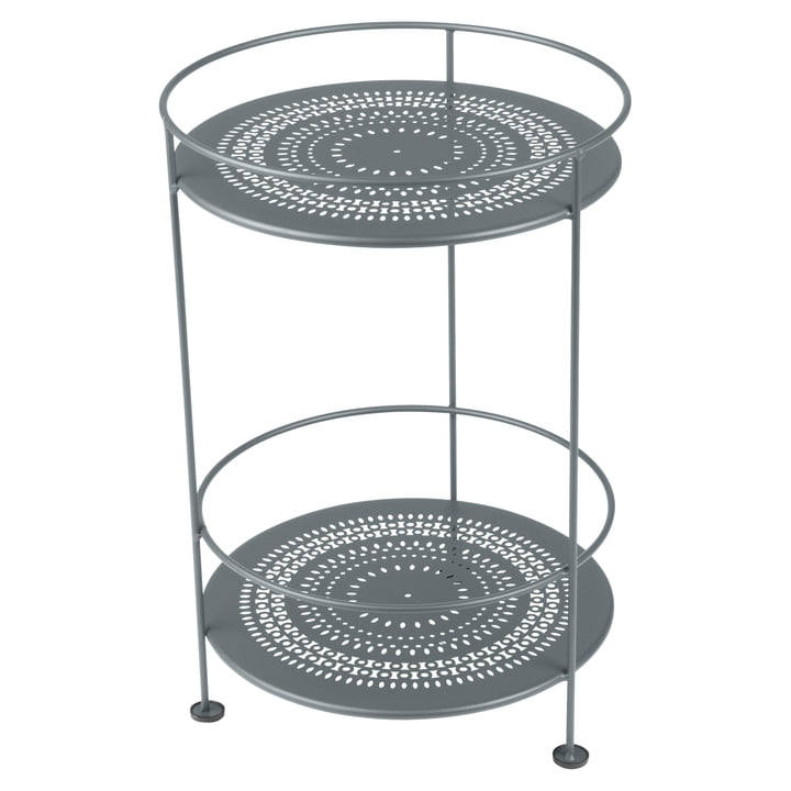 Guéridons Side Table with Perforated Top by Fermob in Storm Grey