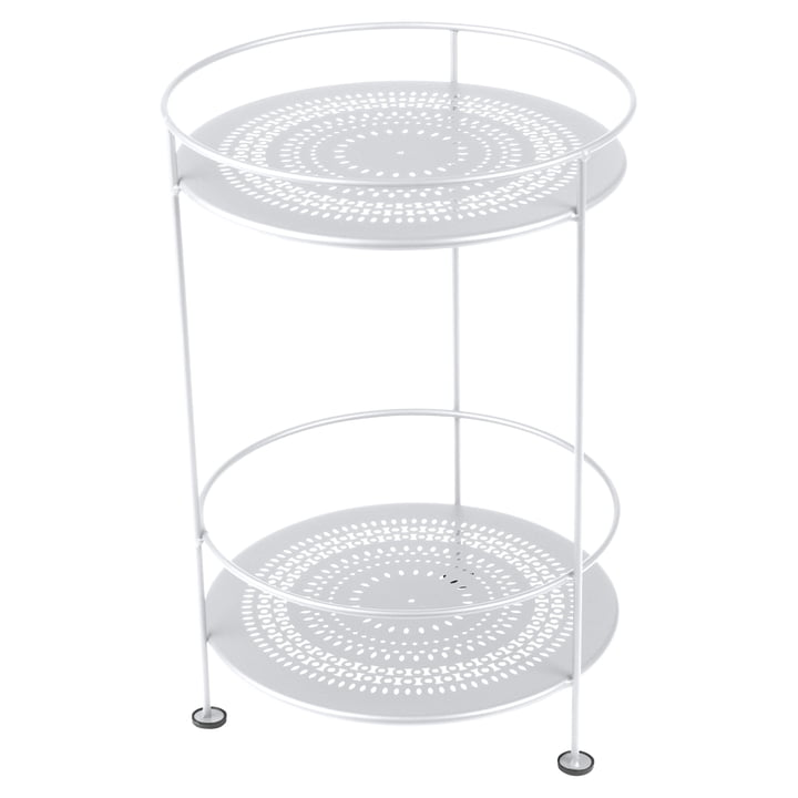 Guéridons Side Table with Perforated Top by Fermob in Cotton White