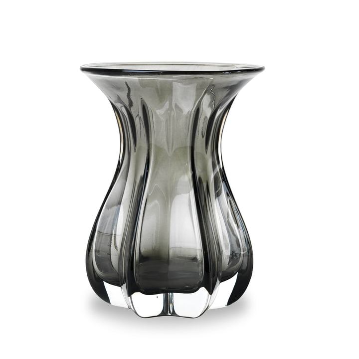 Vase Tulip by Bjørn Wiinblad in Smoke Glass