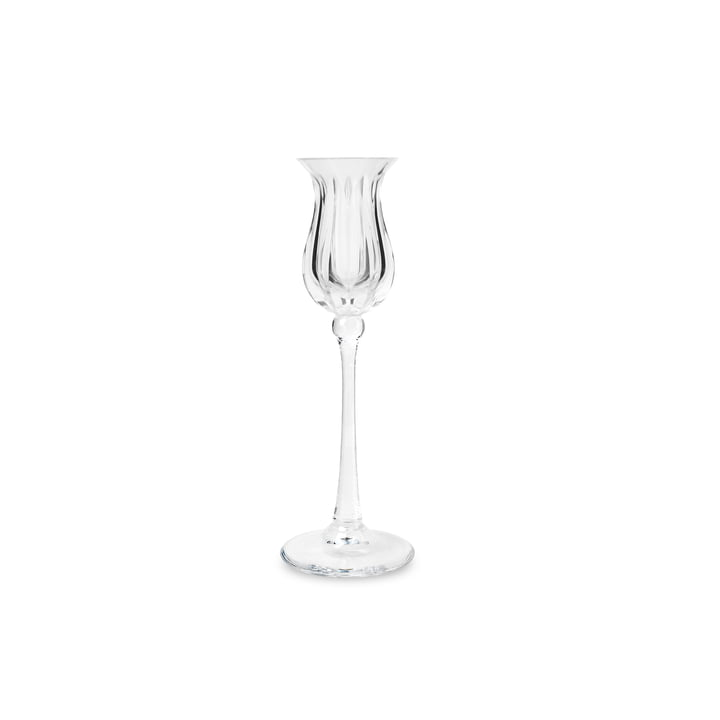 Tulip Candleholder 18 cm by Bjørn Wiinblad in clear