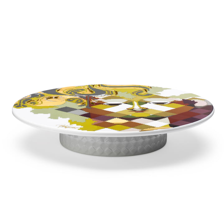 Cake Stand Gobelin with Foot by Bjørn Wiinblad