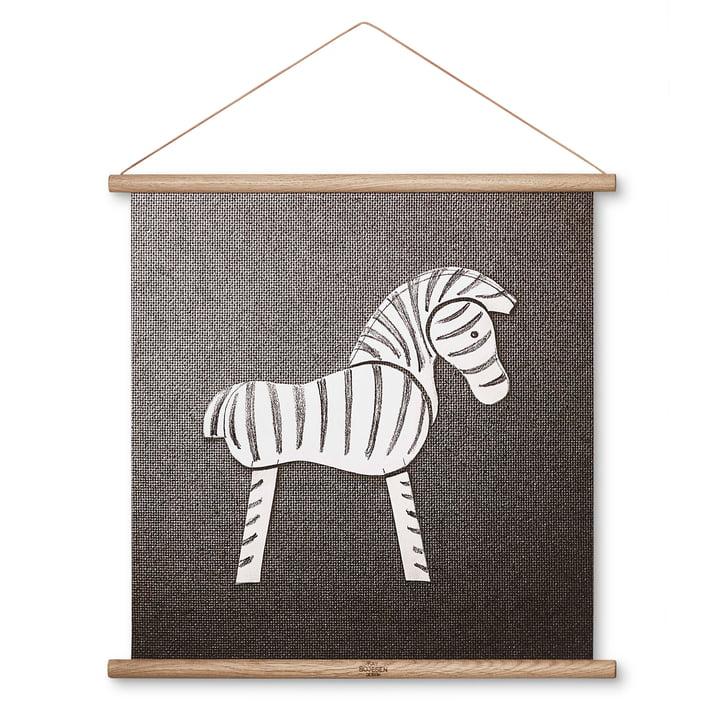 Zebra drawing 40 x 40 cm by Kay Bojesen Denmark