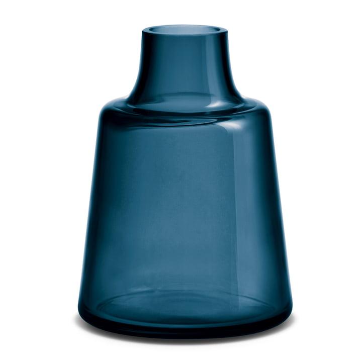 Holmegaard - Flora Vase, short neck, H 24 cm, blue