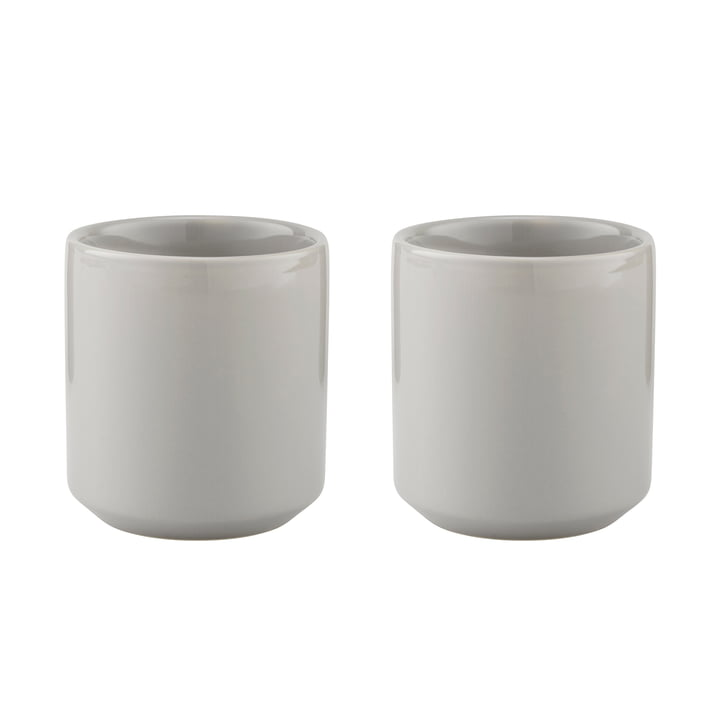 Core Thermos Cup 0.2 l (Set of 2) by Stelton in Light Grey
