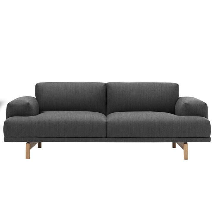 Muuto - Compose Sofa, 2-seater, Vancouver 13 / oak