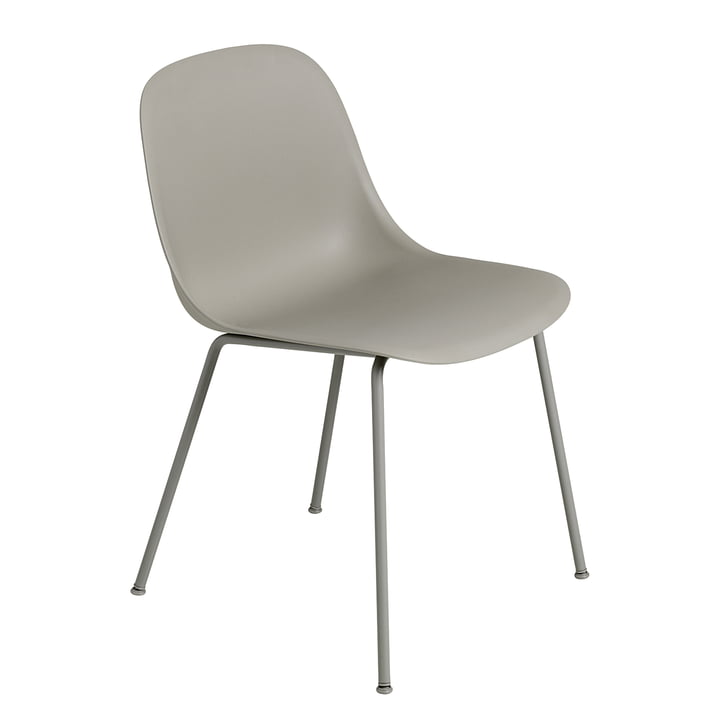 Fiber Side Chair - Tube Base by Muuto in Grey / Grey