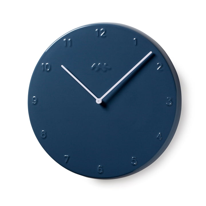 Ora Clock 30 cm by Kähler Deseign in Dove Blue