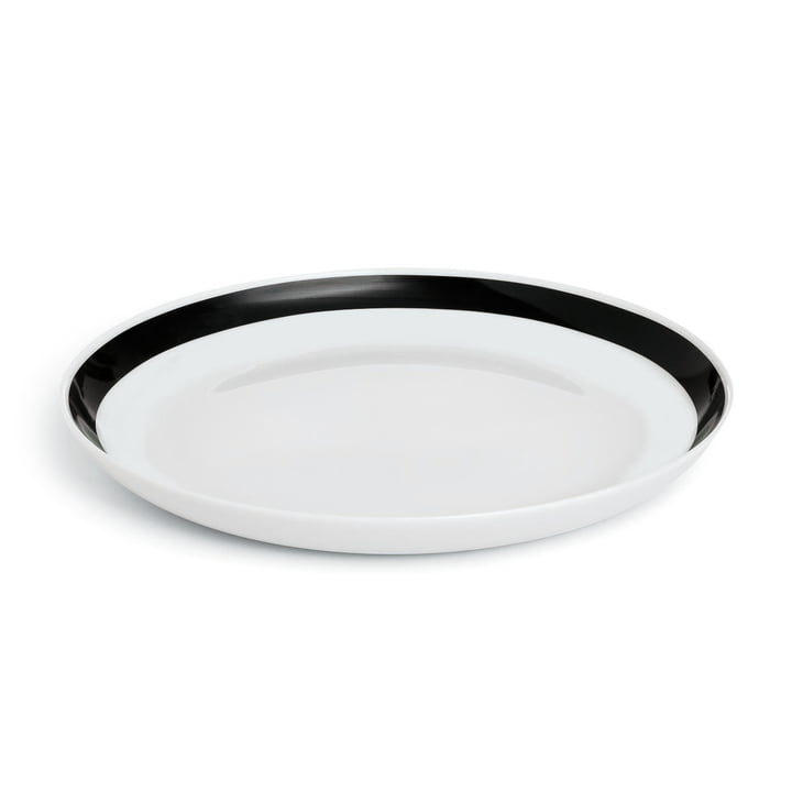 Omaggio Plate Ø 21 cm by Kähler Design in Black / White