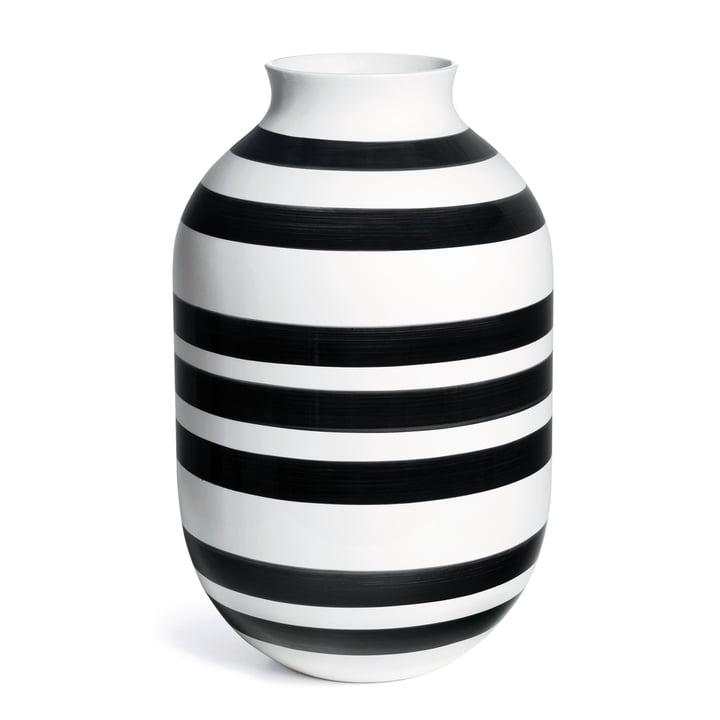 Omaggio Vase, H 50 cm from Kähler Design in Black / White