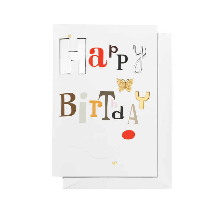 Greeting Card Happy Birthday by Vitra
