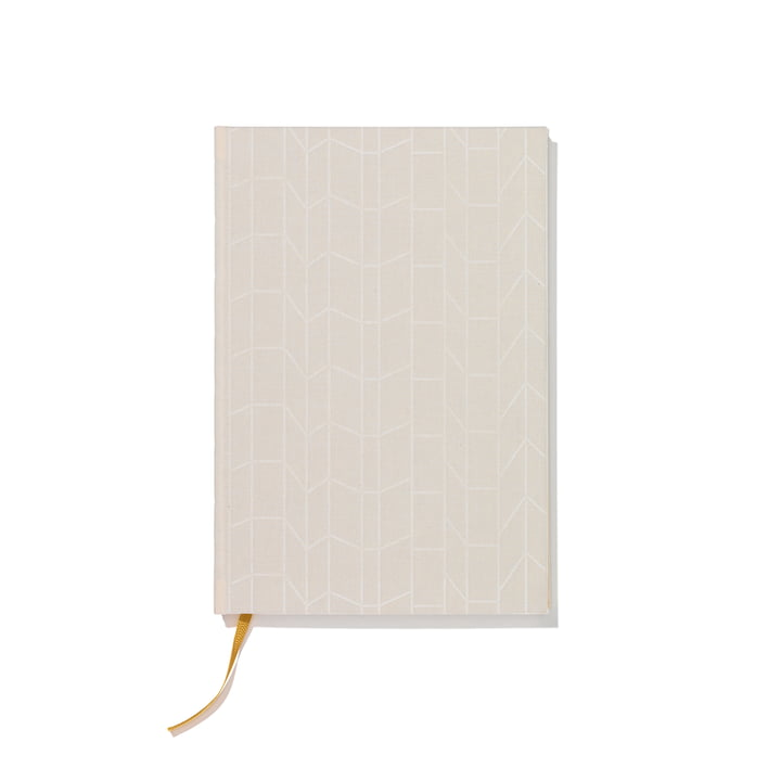 Hardcover notebook A4 by Vitra in cream / yellow