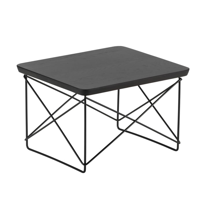Eames Occasional Table LTR from Vitra smoked in oak / basic dark
