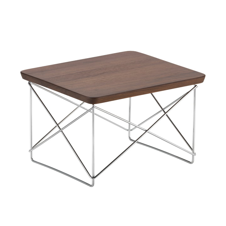 Eames Occasional Table LTR from Vitra in walnut / chrome
