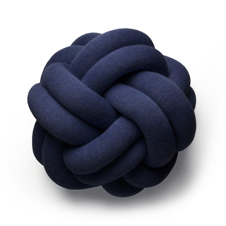 Knot cushion, navy by Design House Stockholm