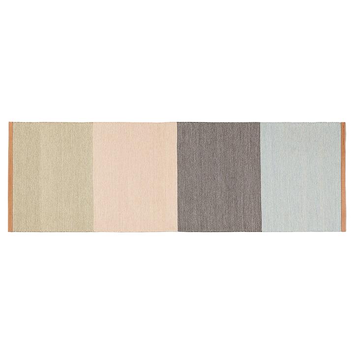 Design House Stockholm - Fields runner 80 x 250 cm, beige / pink / brown / blue