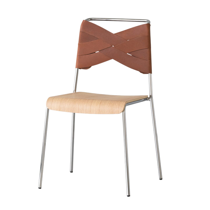Torso Chair by Design House Stockholm in oak / cognac