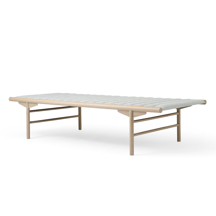 Daybed 80 x 180 cm from Menu in wool light grey (Hallingdal 65) / Nature