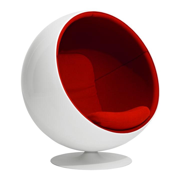 Ball Chair from Eero Aarnio Originals in red (Tonus 4/130)