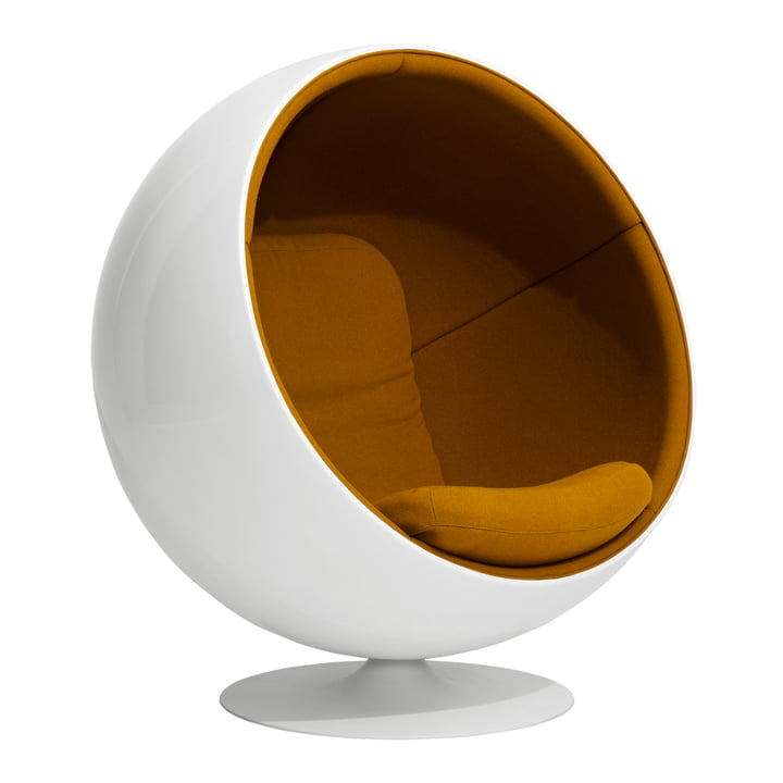 Ball Chair from Eero Aarnio Originals in orange (Hallingdal 65 /547)