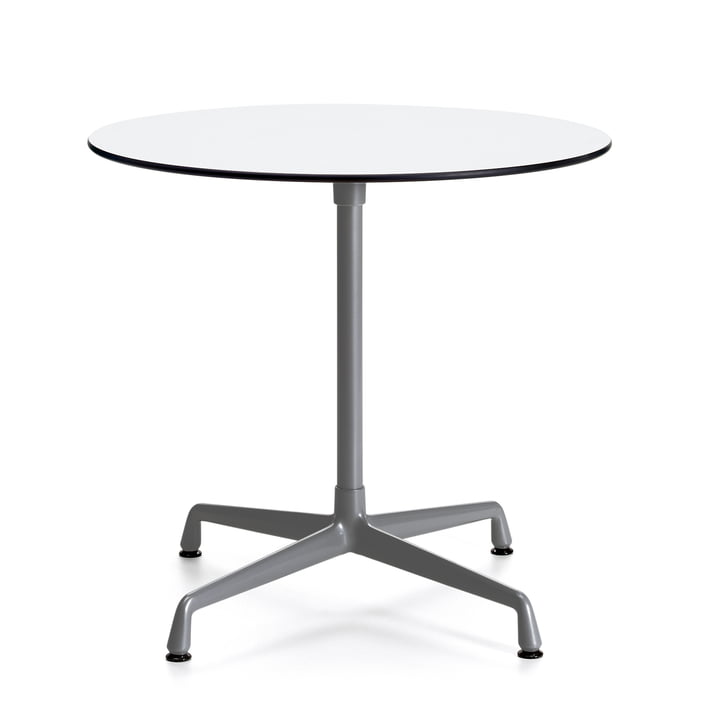 Contract Table Outdoor round from Vitra in white/ dark grey