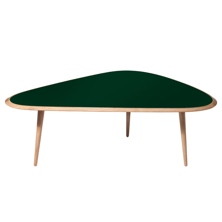 red edition - Fifties Coffee Table, large, deep green (L15)