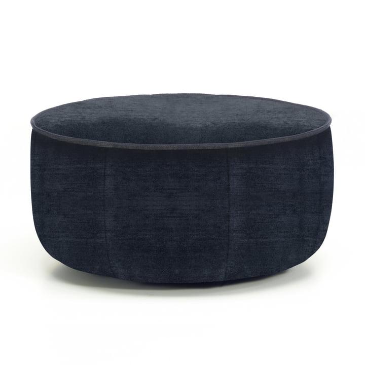 Vitra - Mariposa Ottoman, dark blue (Iroko 06)