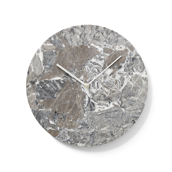 Menu - Marble Clock, gray
