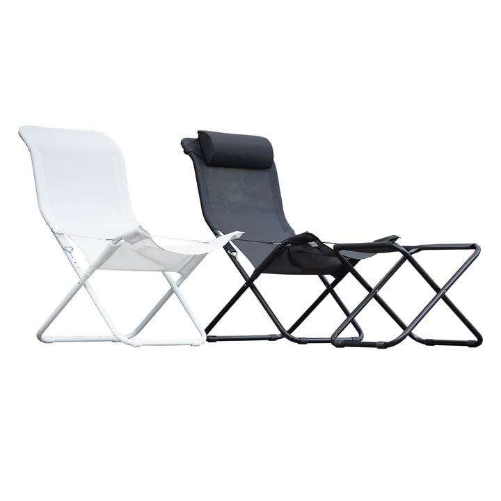 Fiam - Fiesta Easy Chairs in black + white