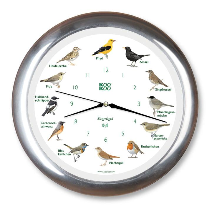 KooKoo - Songbird Clock RC, aluminium matte