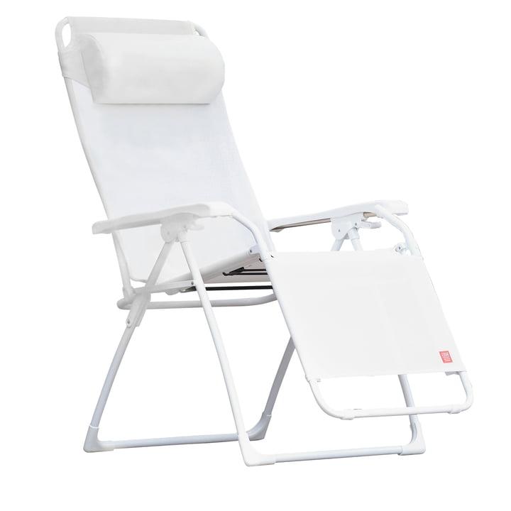Fiam - Amida Relax lounger, aluminium white / white