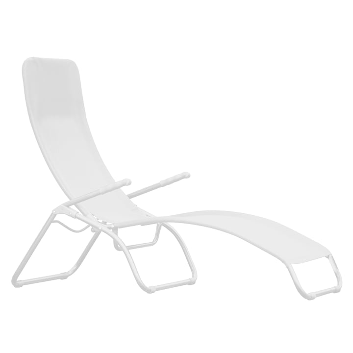 Fiam - Terrace lounger Samba , aluminium white / white