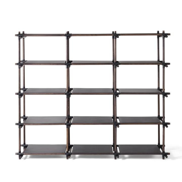 Stick System Shelf 3 x 5 by Menu in Black / Dark Ash