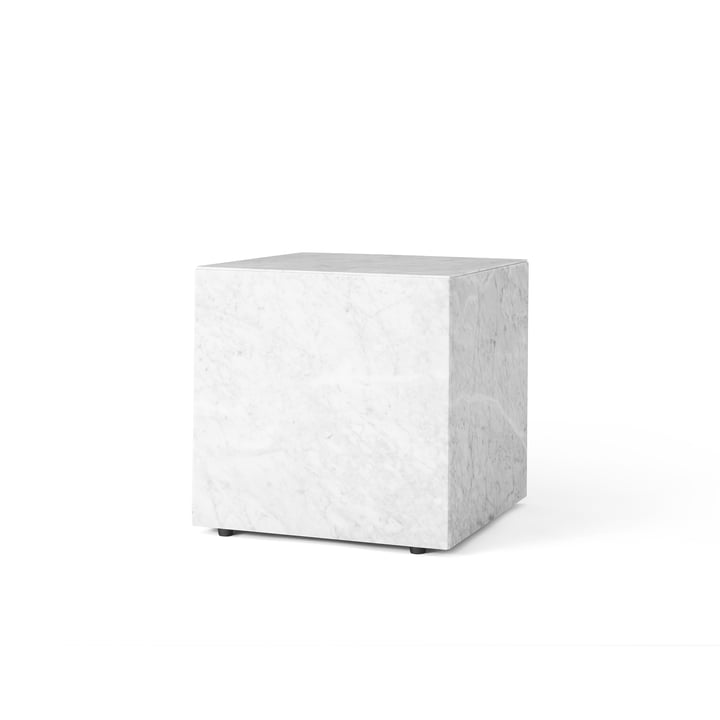 Menu Plinth Cubic Side Table in White