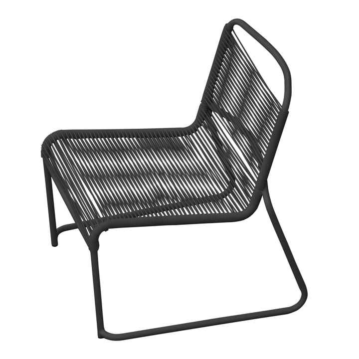 Lido Spaghetti Lounge Chair by Fiam in black