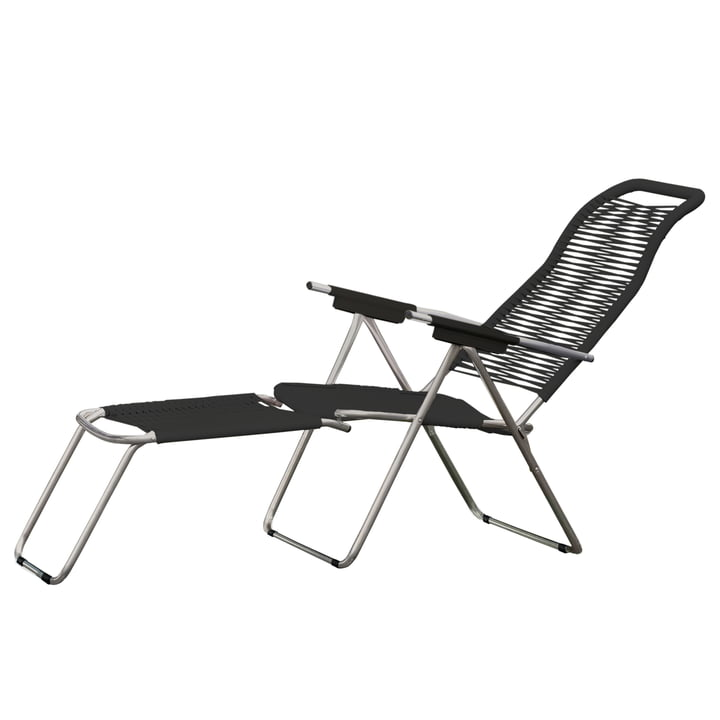 Deck Chair Spaghetti by Fiam in Black