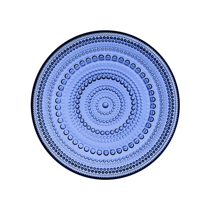 Kastehelmi plate Ø 17 cm by Iittala in ultramarine blue