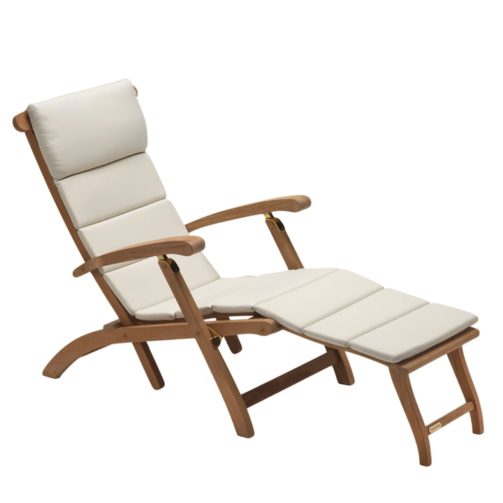 Skagerak - Deck chair with cushion, sand