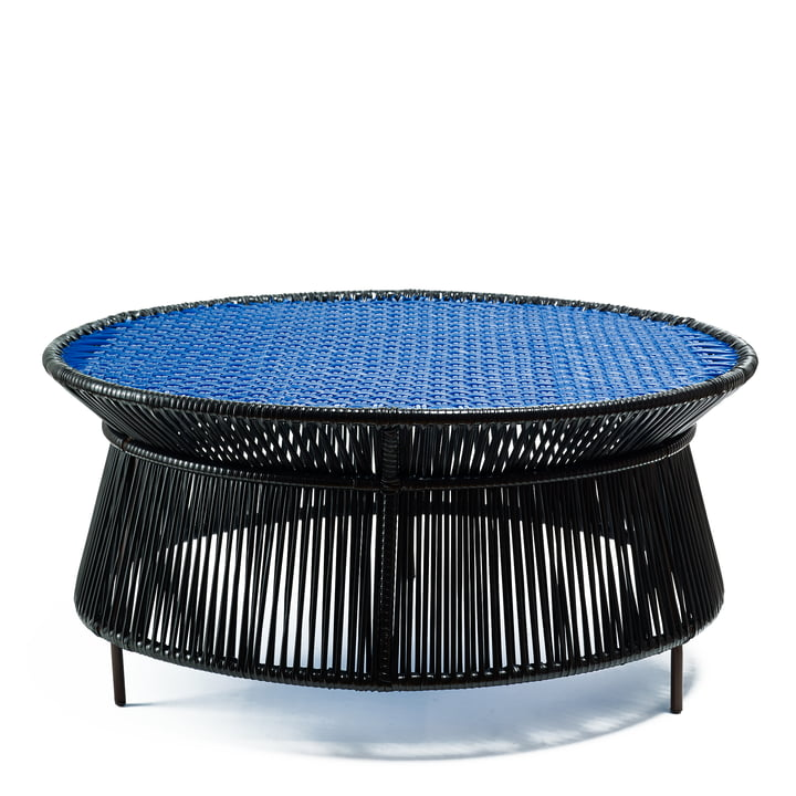 ames - caribe Low Table, black / blue / brown