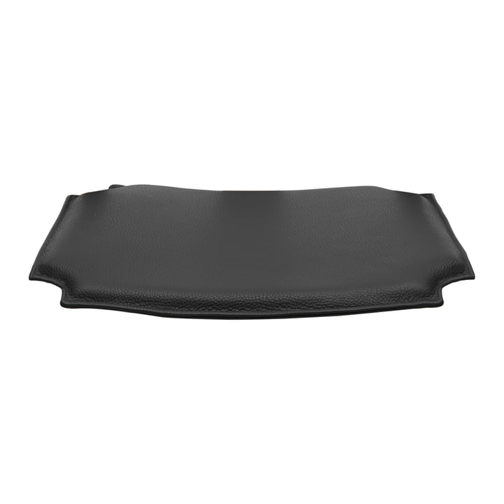 Leather cushion for CH24 Wishbone Chair by Carl Hansen in black