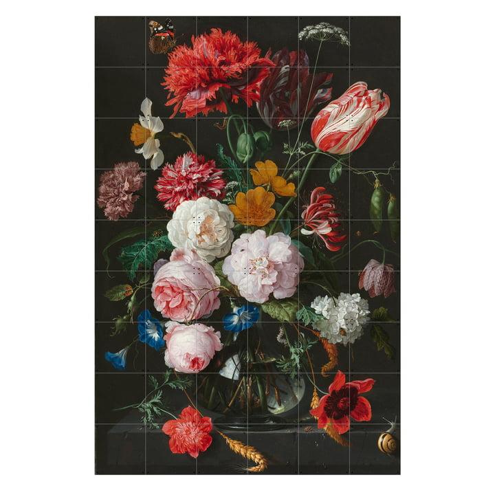 Flower Still Life in a Glass Vase (De Heem) by IXXI in 120 x 180 cm