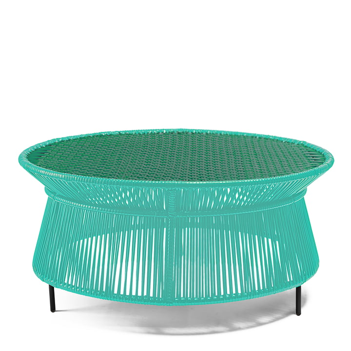 ames - caribe Low Table, mint / green / black