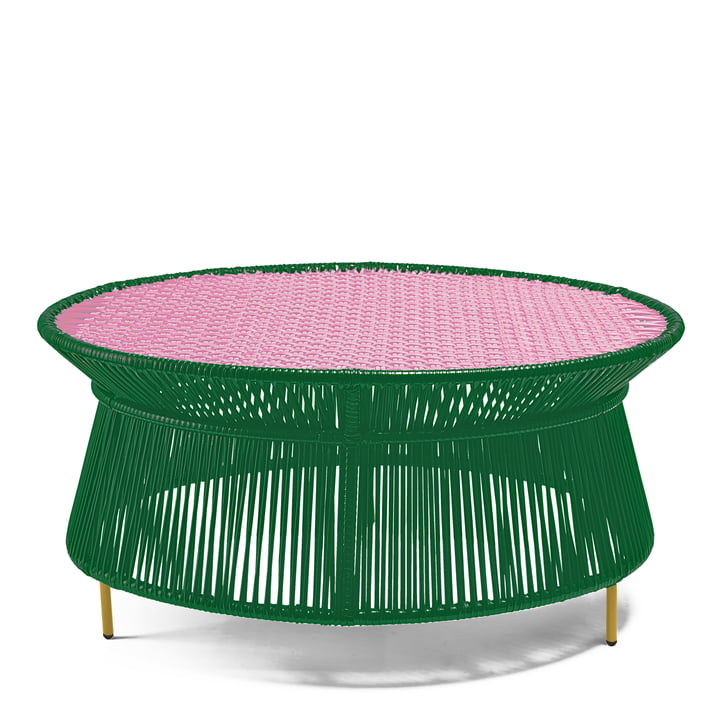 ames - caribe Low Table, green / pink / curry