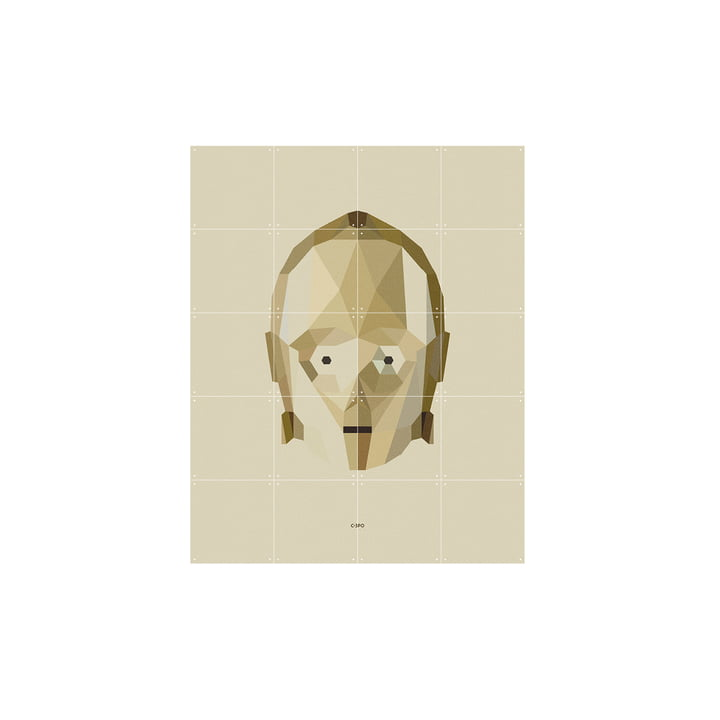 Star Wars Icon: C-3PO by IXXI in 80 x 100 cm